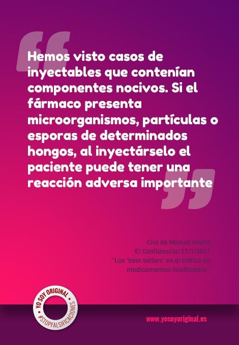 Peligros de los medicamentos falsificados por Manuel Ibarra