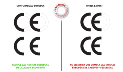 Diferencia entre el sello CE de Europa y China Export